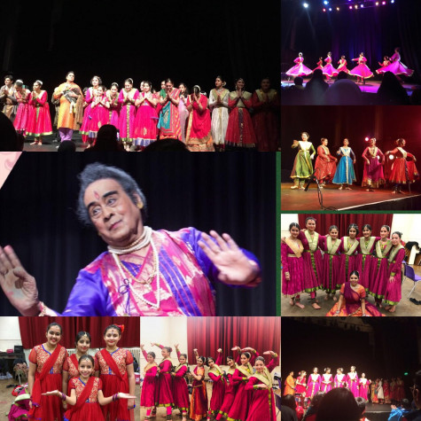 a collage of the srishti event.