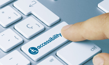 "the sign ""accessibility"" on a keyboard"