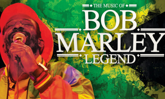 The title 'LEGEND the music of Bob Marley'