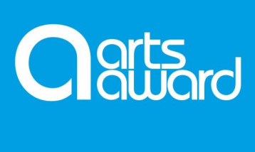 The logo for the arts award.