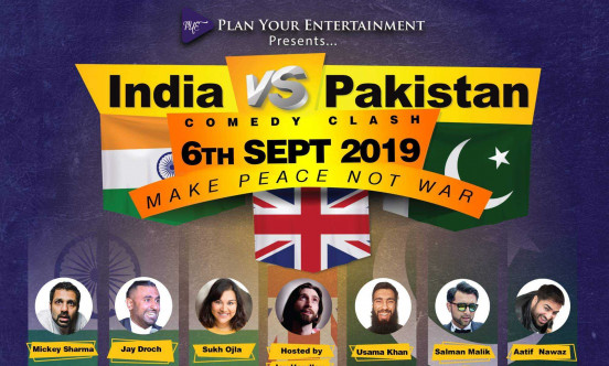 A picture of the event of the showing of India vs Pakistan.
