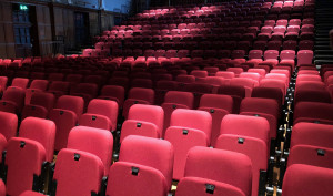 Red seats in the Elliott Hall theatre.