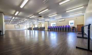 A picture of the clear space of one of the rehearsal rooms.