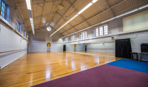 A side view of the Dance Studio, showing the open space.