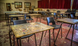 A picture of the Rayners classroom with chairs and desks.