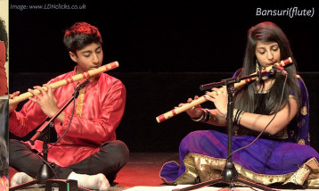 Children playing Bansuri Flute