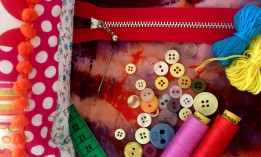 A selection of sewing materials