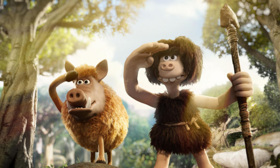 A caveman and his warthog from the film Early Man