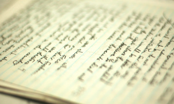 A page of poetry writing