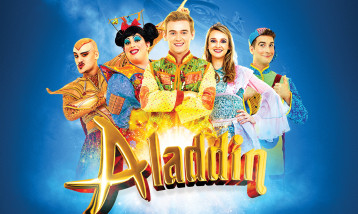 Characters from Panto Aladdin
