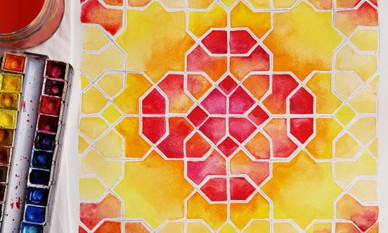 Samira Mian Islamic Geometry painting example