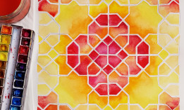 Samira Mian Islamic Geometry painting example