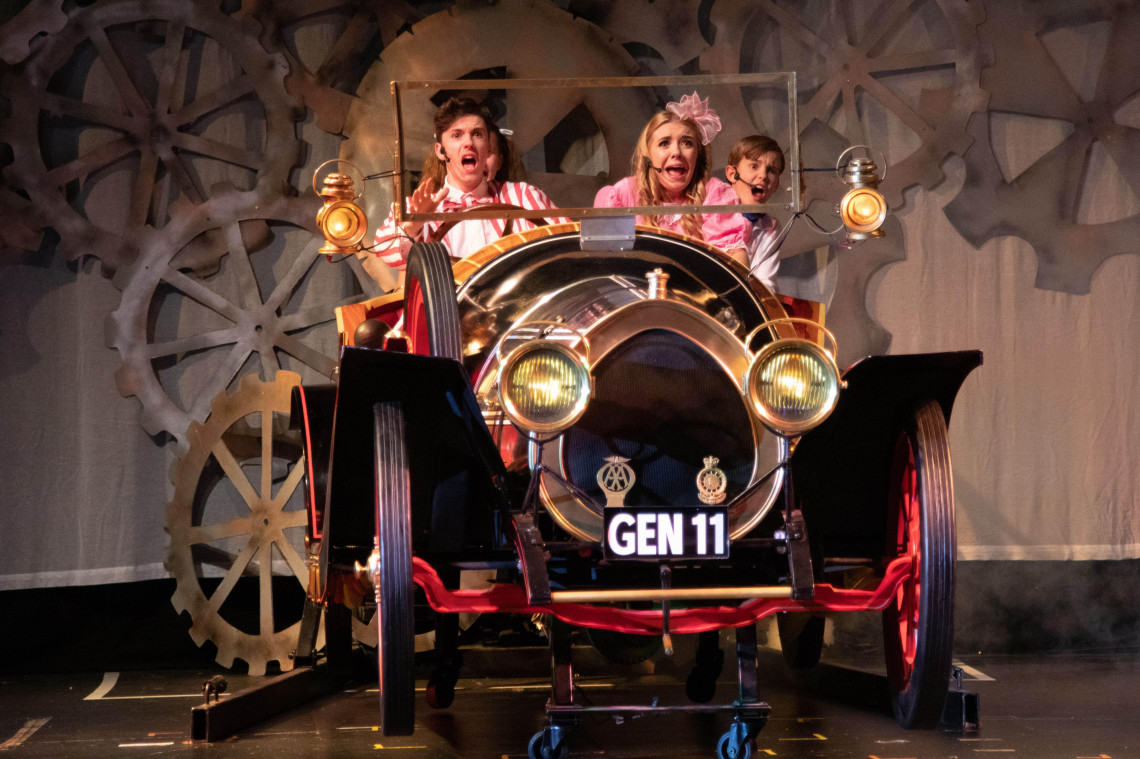 Students from The Sharpe Academy in a production of Chitty Chitty Bang Bang