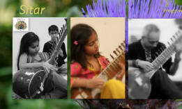 Students playing Sitar