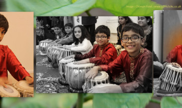 Children playing the Tabla