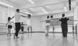 Students in a movement class