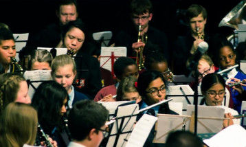 Students from Harrow Music Service's Band Festival