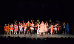 Child dance group on stage