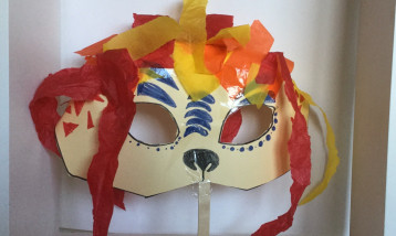 An example of a lion mask